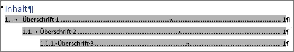 Beispiel für ein angepasstes Verzeichnis
